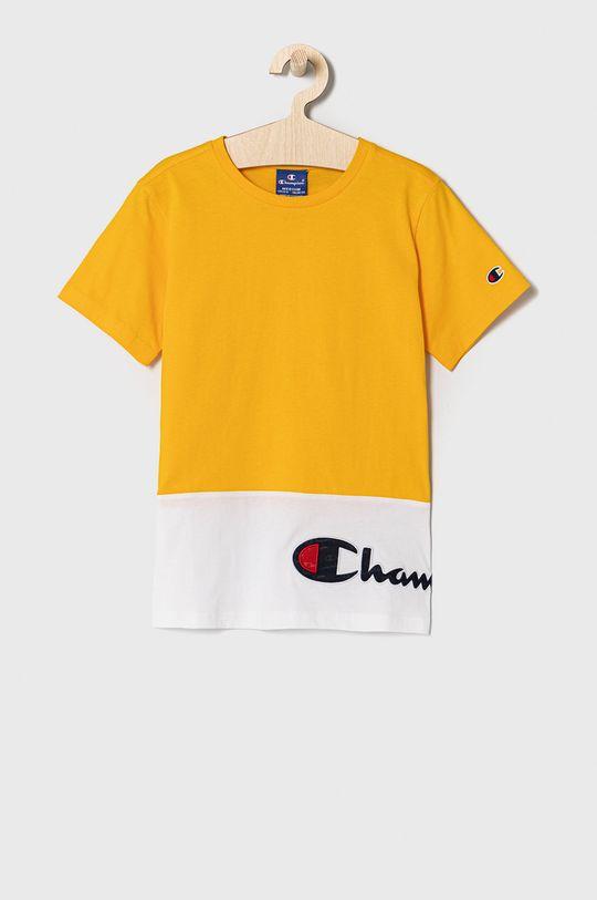 bursztynowy Champion - T-shirt dziecięcy 102-179 cm Chłopięcy