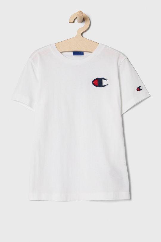 biela Champion - Detské tričko 102-179 cm. Chlapčenský