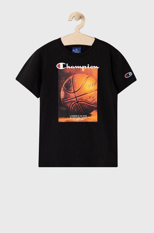 czarny Champion - T-shirt dziecięcy 102-179 cm Chłopięcy
