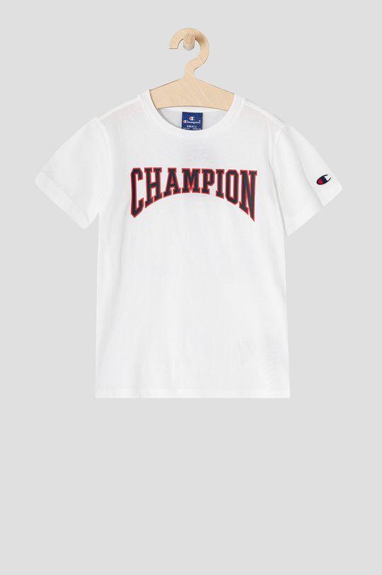 biela Champion - Detské tričko 102-179 cm Chlapčenský