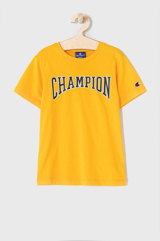żółty Champion - T-shirt dziecięcy 102-179 cm Chłopięcy