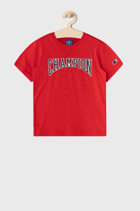 ostry czerwony Champion - T-shirt dziecięcy 102-179 cm Chłopięcy