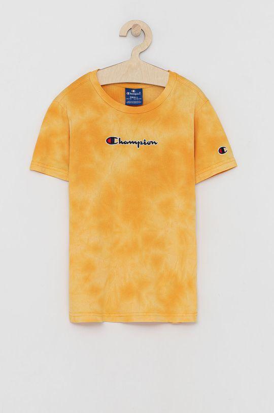 bursztynowy Champion - T-shirt bawełniany dziecięcy Chłopięcy