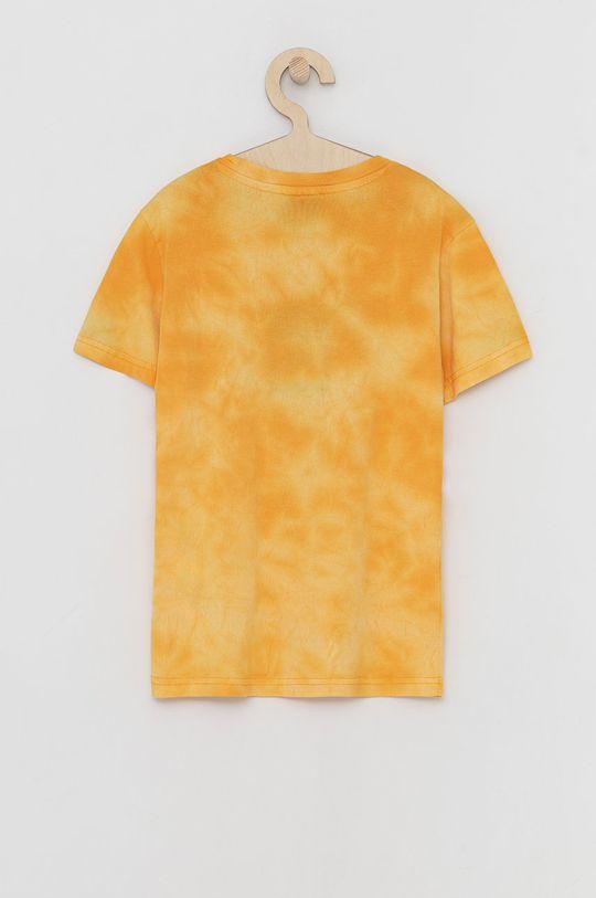 Champion - T-shirt bawełniany dziecięcy bursztynowy
