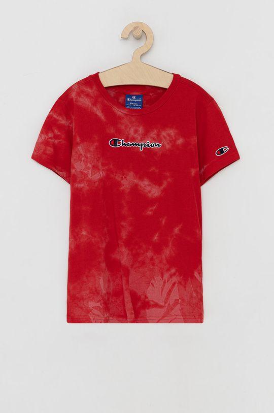 czerwony Champion - T-shirt bawełniany dziecięcy Chłopięcy
