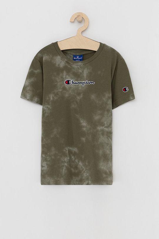 zielony Champion - T-shirt bawełniany dziecięcy Chłopięcy