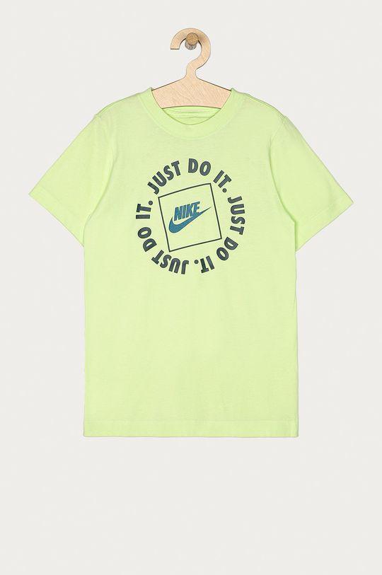 žlutě zelená Nike Kids - Dětské tričko 122-170 cm Chlapecký