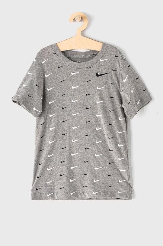 sivá Nike Kids - Detské tričko 128-170 cm Chlapčenský