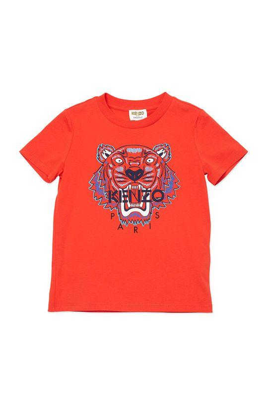 czerwony KENZO KIDS - T-shirt dziecięcy Chłopięcy
