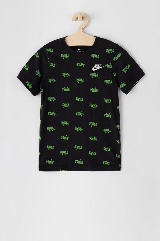 czarny Nike Kids - T-shirt dziecięcy 122-170 cm Chłopięcy