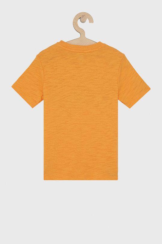 GAP - T-shirt bawełniany dziecięcy pomarańczowy