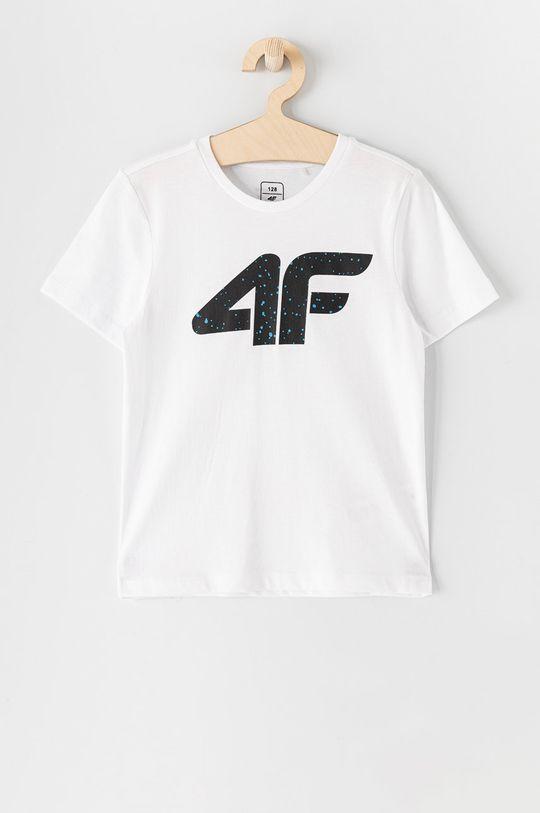 biały 4F - T-shirt dziecięcy 122-164 cm Chłopięcy