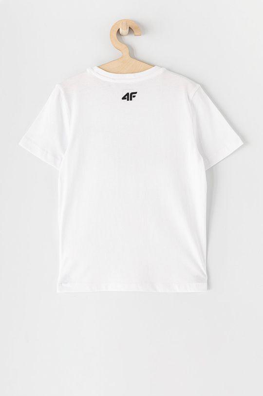 4F - T-shirt dziecięcy 122-164 cm biały
