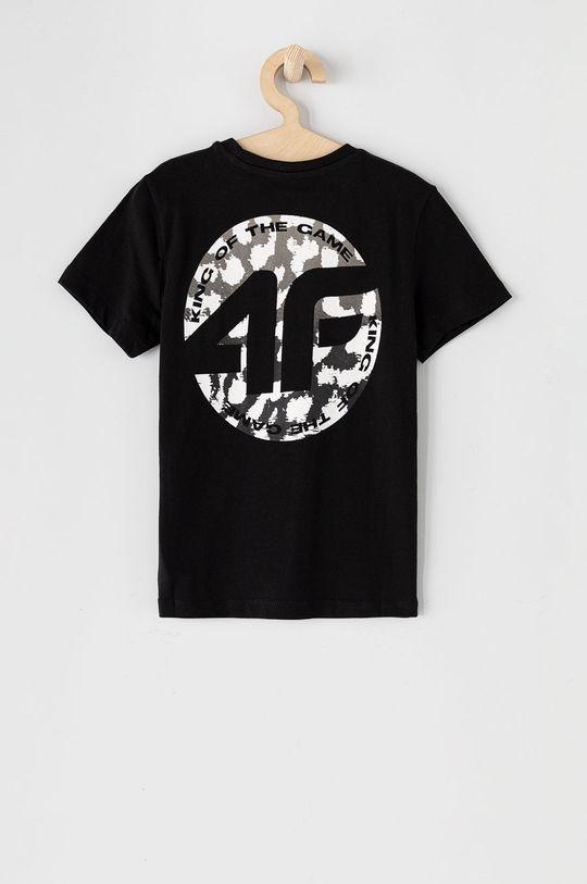 4F - T-shirt dziecięcy Materiał zasadniczy: 100 % Bawełna, Ściągacz: 98 % Bawełna, 2 % Elastan
