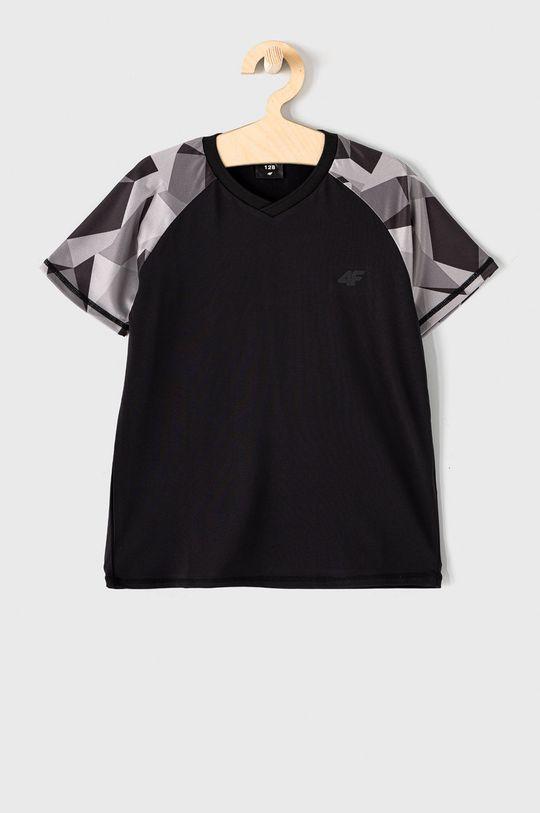czarny 4F - T-shirt dziecięcy 122-164 cm Chłopięcy