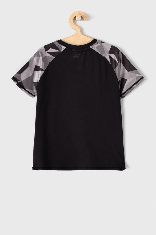 4F - T-shirt dziecięcy 122-164 cm czarny