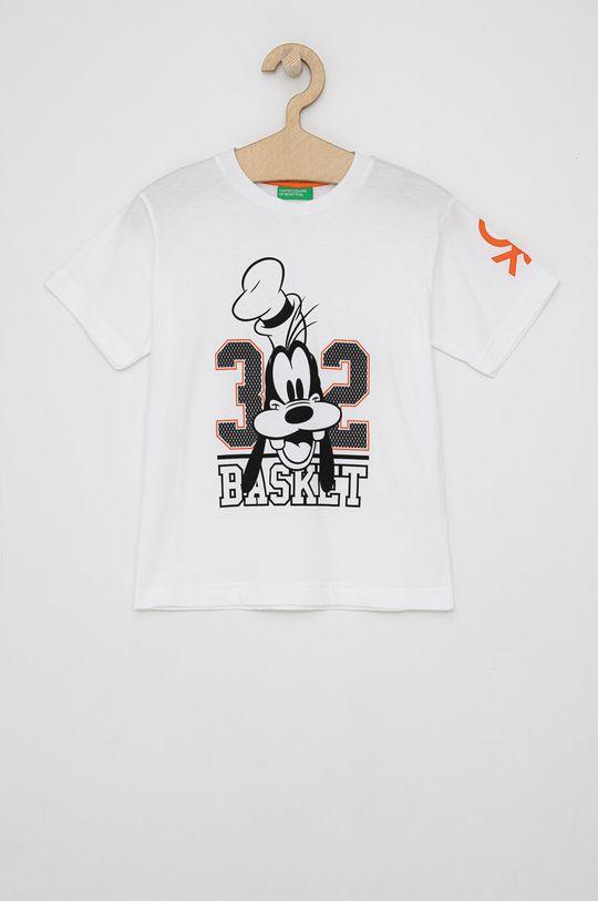 bílá United Colors of Benetton - Dětské bavlněné tričko Chlapecký