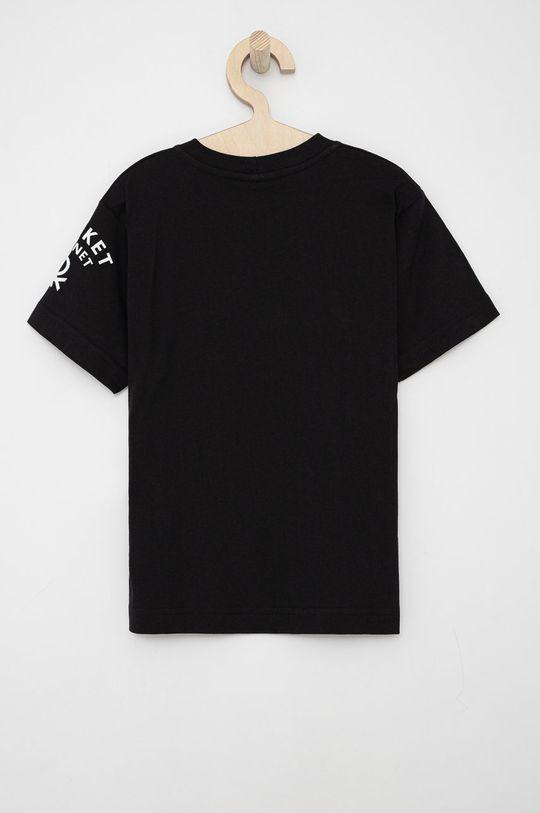United Colors of Benetton - T-shirt bawełniany dziecięcy czarny