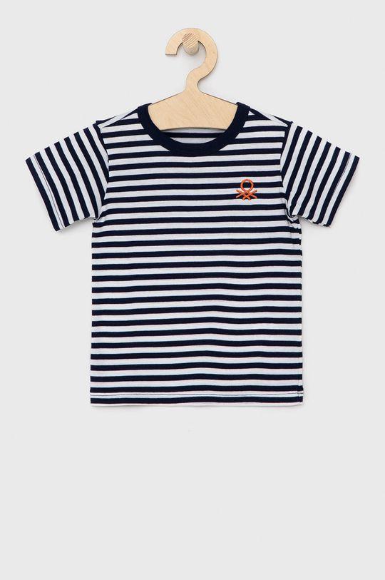 námořnická modř United Colors of Benetton - Dětské bavlněné tričko Chlapecký