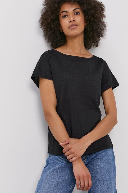 czarny Vila - T-shirt Damski