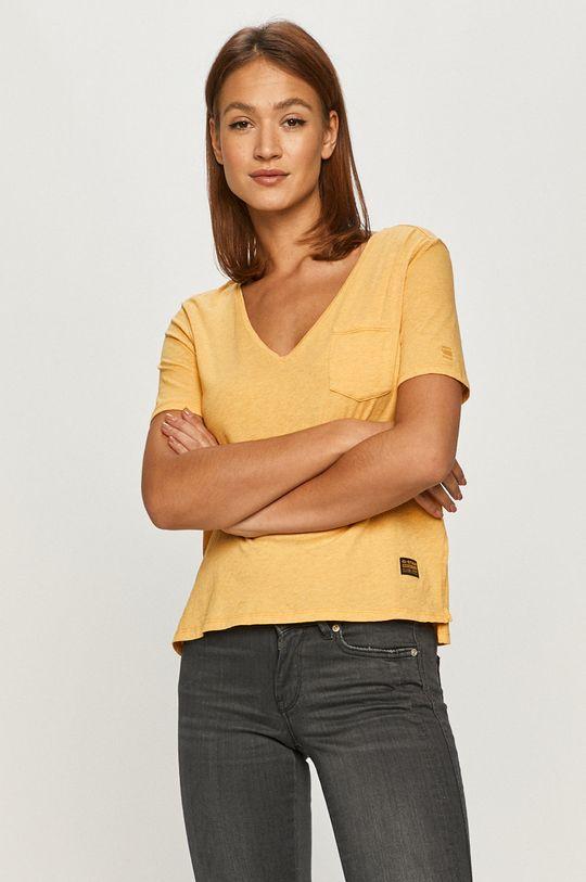 żółty G-Star Raw - T-shirt Damski