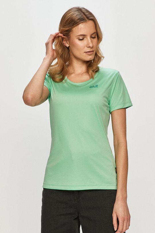 blady zielony Jack Wolfskin - T-shirt Damski