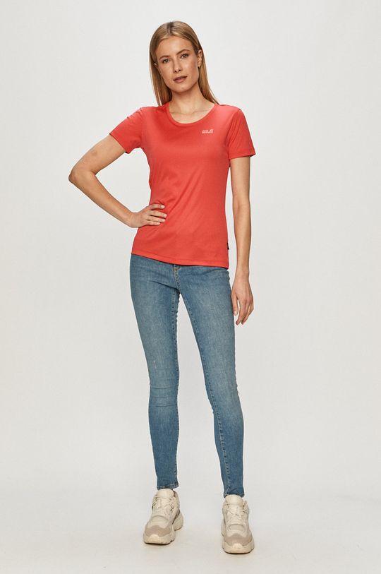 Jack Wolfskin - T-shirt czerwony