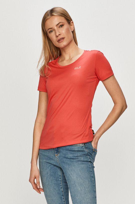 czerwony Jack Wolfskin - T-shirt