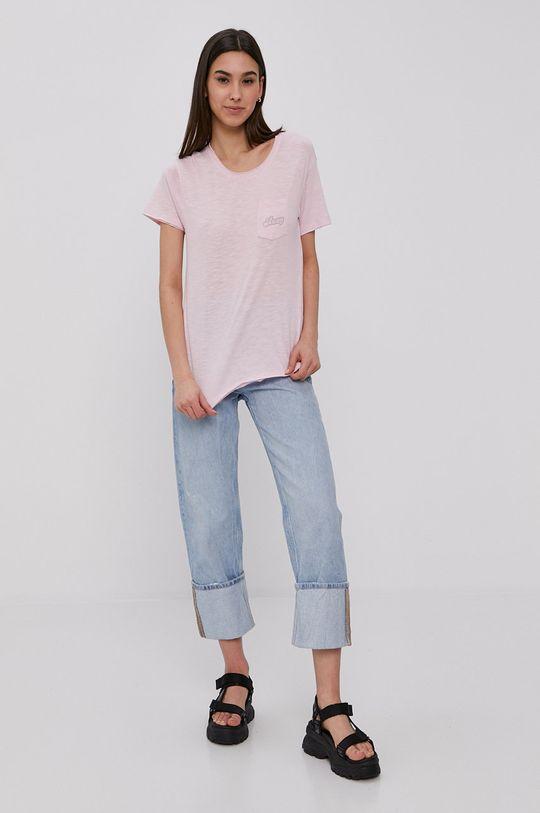 Roxy - T-shirt ostry różowy