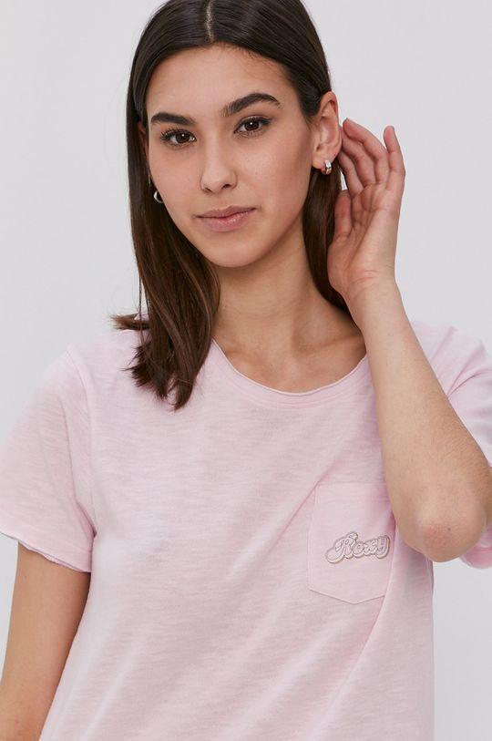 ostry różowy Roxy - T-shirt