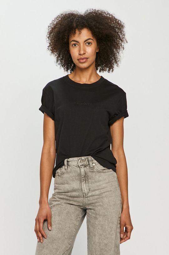 czarny Quiksilver - T-shirt Damski
