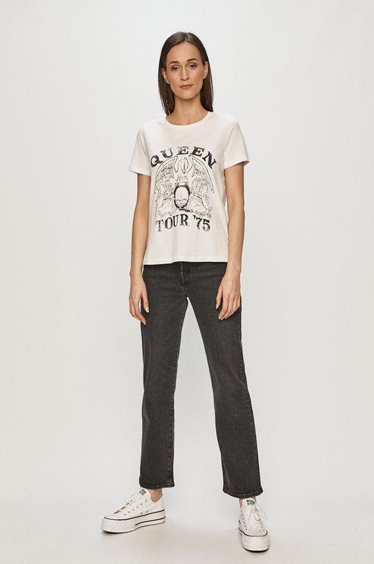 Vero Moda - Tričko bílá