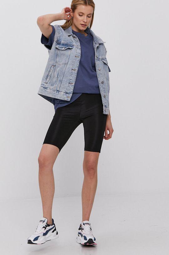 Vero Moda - T-shirt stalowy niebieski