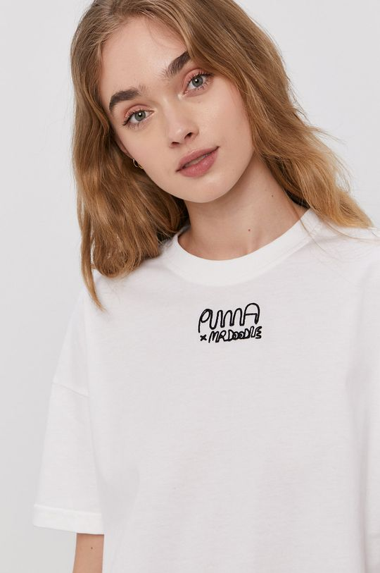 biały Puma - T-shirt x Mr Doodle