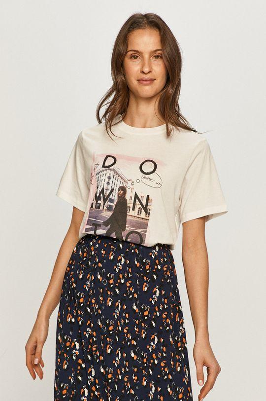 biały Jacqueline de Yong - T-shirt Damski