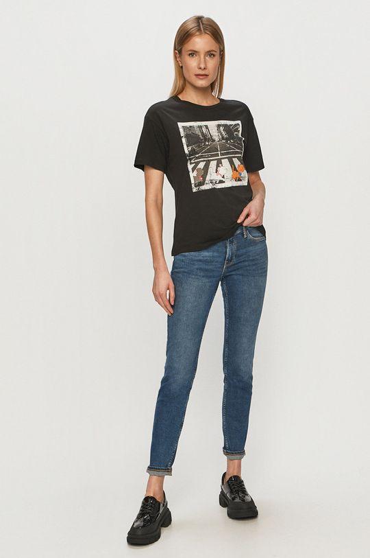 Jacqueline de Yong - T-shirt czarny