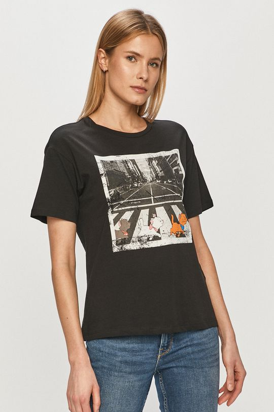 czarny Jacqueline de Yong - T-shirt