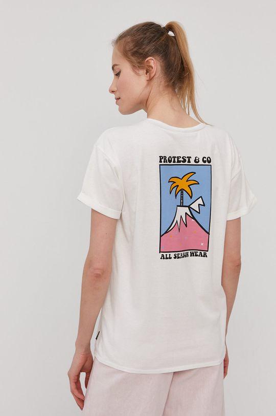 biały Protest - T-shirt Damski
