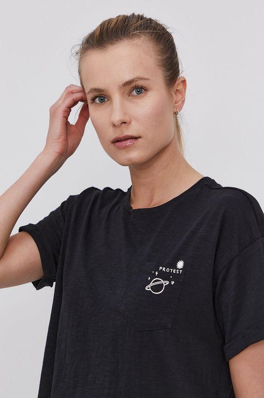 czarny Protest - T-shirt