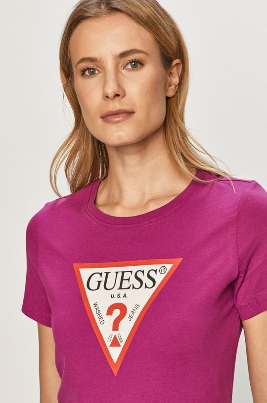 fioletowy Guess - T-shirt