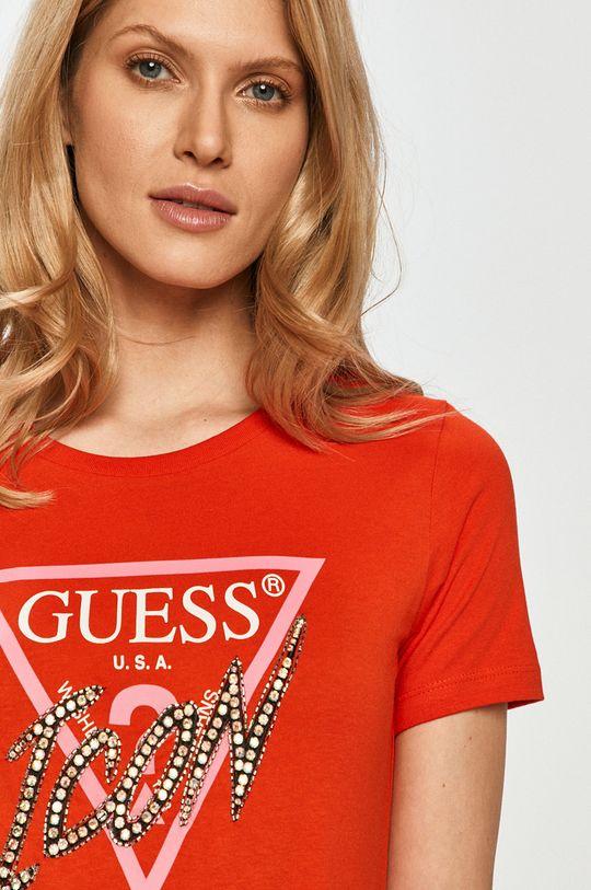 červená Guess - Tričko Dámsky