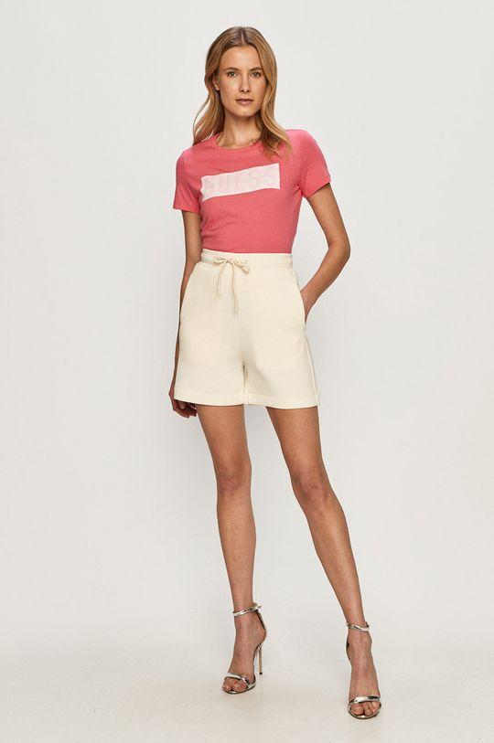 Guess - Tričko sýto ružová
