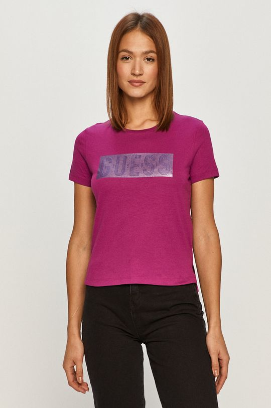 winogronowy Guess - T-shirt Damski