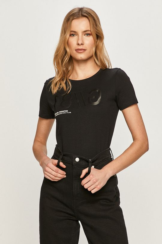 czarny Guess - T-shirt Damski