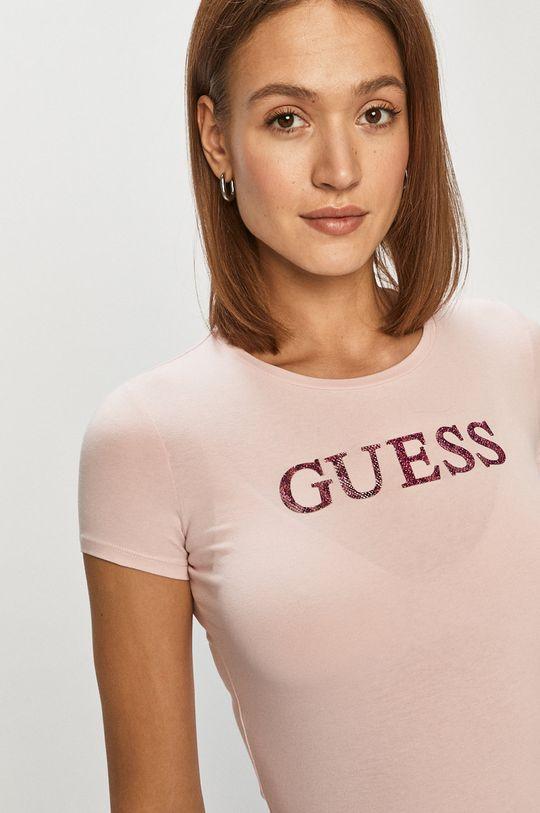 pastelová ružová Guess - Tričko