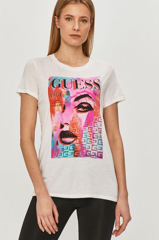 biały Guess - T-shirt Damski