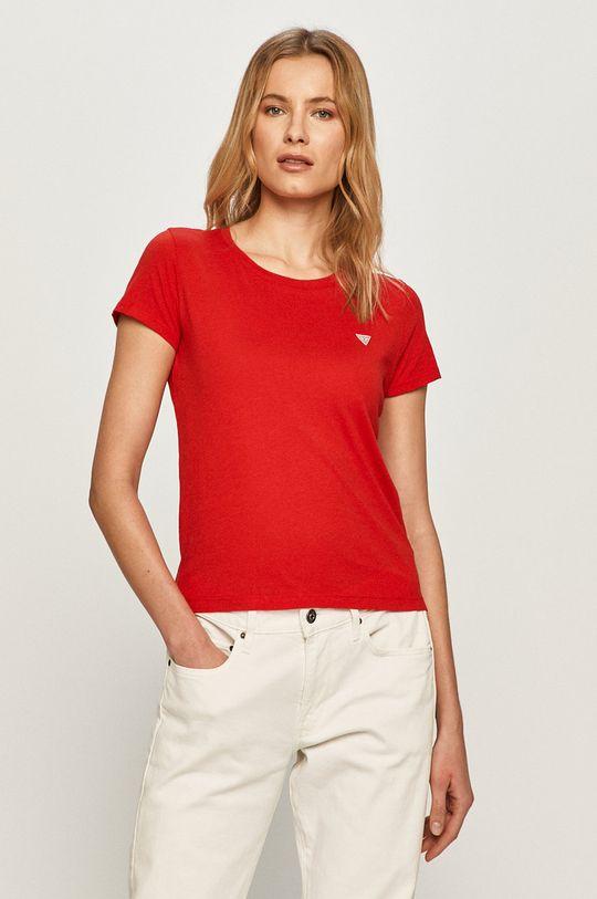 czerwony Guess - T-shirt Damski