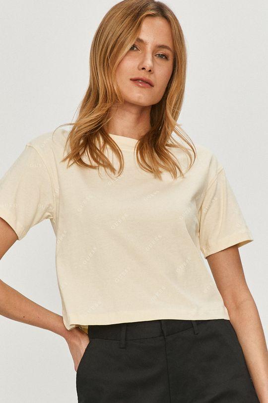 kremowy Guess - T-shirt