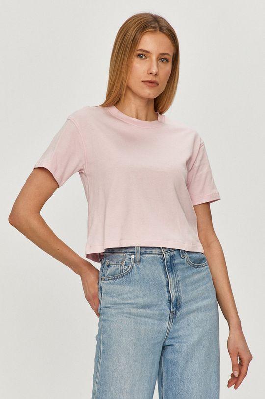 Guess - T-shirt różowy