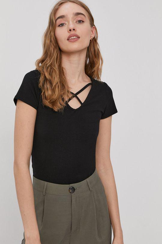 czarny Only - T-shirt Damski